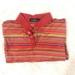 Bugatchi striped polo shirt size L